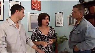 Tight ass wife Krystal sucks big dick and fucks next to porn guys - duration 38:14