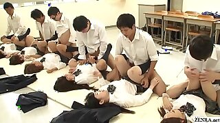 Splendid schoolgirl fucked by teacher and instructor - duration 5:25