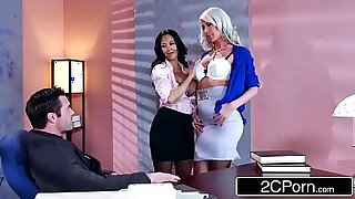 Olen and Price Geist threesome in his earthy office - duration 7:44