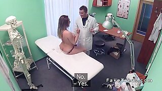 Brunette doctor rides dick of an ex gf in procedures - duration 6:45