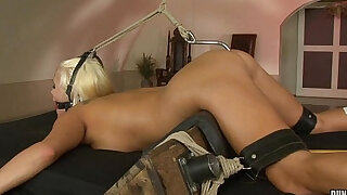 Blonde Jess abused and anal hooked - duration 44:00