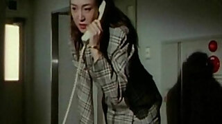 Sexy Japanese woman tied to a chair gets doggystyle fucked from behind - duration 4:00