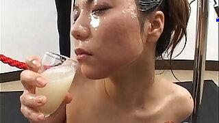 Big load bukkake and swallow girl Japanese Uncensored - duration 19:00