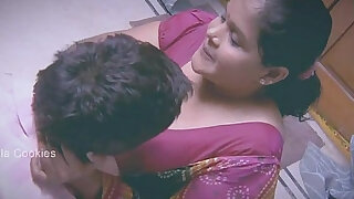Chubby Indian Lady busy with younger man - duration 11:00