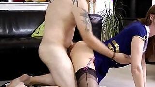 British milf cockriding while in stockings - duration 10:00