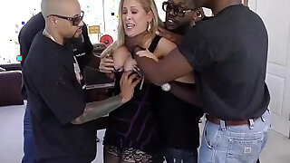Cherie deville gets gangbanged by big black monster cocks - duration 12:00