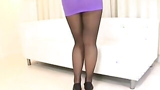 Asian Pantyhose Solo Stockings HD Porn hardcore - duration 15:00