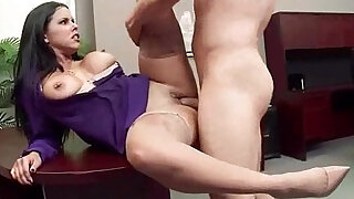 diamond kitty Busty Girl Get Nailed Hard doggy Style In Office video - duration 5:00