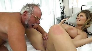 19 yo Aida Swinger pussy and ass eaten and banged by grandpa - duration 5:00