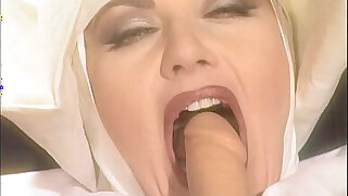 Jessica rizzo is a dirty nun pissed by filthy men - duration 9:00