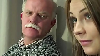 Old Young Porn Teen Gangbang by Grandpas pussy fucking fingering gagging - duration 7:00