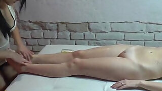 Lesbian massage by two 19yo czech amateur hotties - duration 13:00