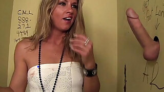 Hot Slut Blows Stranger In Public Bathroom! - duration 5:00