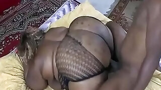A black guy shakes the big ass of a fat woman - duration 44:00