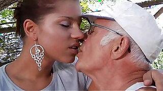 Big dick oldman fucks his much younger sexy girlfriend - duration 6:00