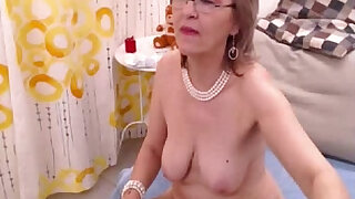 Granny fills both of her holes with toys - duration 5:00
