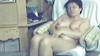 My mum home alone caught masturbating by my hidden cam - duration 0:59