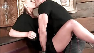 Busty Blonde Hooks Up With The Hunk Bartender - duration 9:00
