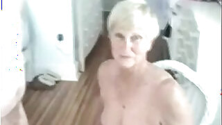 Naughty Granny Gives Her Man A Blowjob - duration 3:00