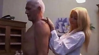 Hot Teen nurse seducing an Old patient - duration 12:00