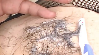 Oriental muff shaving and wild anal - duration 5:00