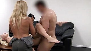 Ania and Gina Audition for Backroom Casting Couch - duration 9:00