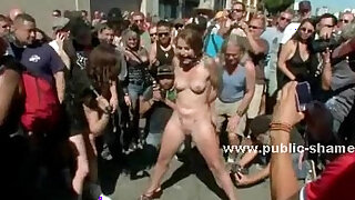 Group of sluts undressed in public sex - duration 4:00