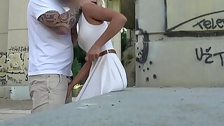 Public agent cherry kiss given an anal and creampie in public - duration 13:00