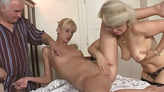 His GF and parents in hot threesome - duration 6:00