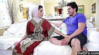 Arab boyfriend riding a white cock - duration 13:40