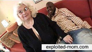 Granny feeds black cock - duration 5:41