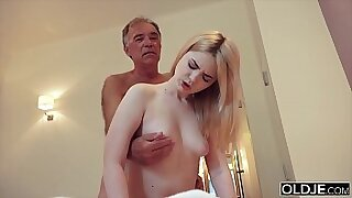 Mother Dagny rides and fucks grandpas cock - duration 10:18