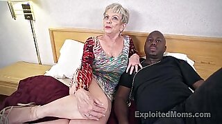 Mature grandma sucks huge black man cock - duration 6:03