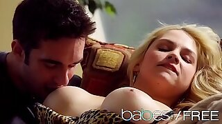 Pretty inexperienced babe strokes myself and gets pierced - duration 8:26
